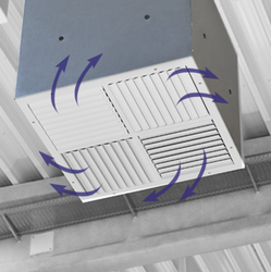 Type VD - Ceiling swirl diffuser for high rooms, with adjustable air control blades - TROX UK Ltd