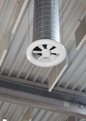 Type VDL - Ceiling swirl diffuser for high rooms with adjustable air control blades - TROX UK Ltd