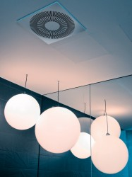 Type XARTO - a ceiling swirl diffuser for more refined comfort zones with special demands on architecture and design, with fixed air control blades - TROX UK Ltd
