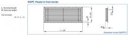 Type WAP - Aluminium ventilation grille with fixed horizontal blades (also for horizontal runs) - TROX UK Ltd