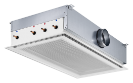 Type DID 614 - Four way active chilled beam suitable for grid ceilings with grid size 600 or 625 - TROX UK Ltd