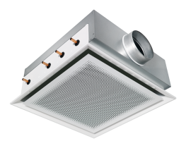 Type DID 614 - Four way active chilled beam suitable for grid ceilings with grid size 600 or 625 image