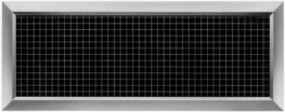 Type AE - Aluminium return air grilles with a fixed square pattern core image