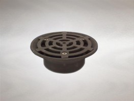 Direct connection gratings cast iron trapped image