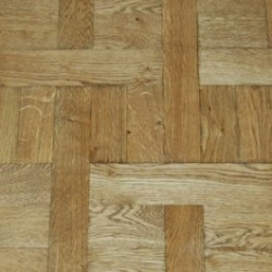 Solid Oak Basket Weave Parquet Block Unfinished image