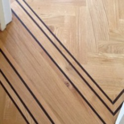 Solid Wenge Parquet Border Strips Unfinished image