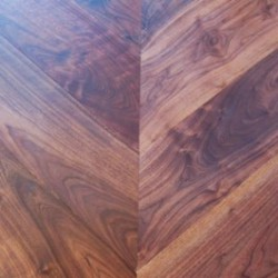 Chevron Parquet Block Engineered American Walnut image