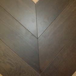 Chevron Parquet Block Engineered Fumed 45 degree image