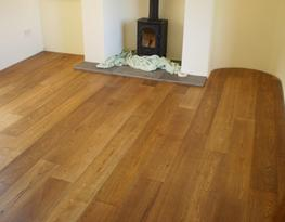 Brushed Lightly Fumed Oak Flooring UV Oiled Finish | E124 image
