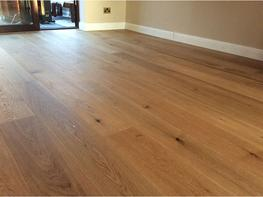 Select Grade Brushed Natural Oak Flooring UV Oiled Finish image