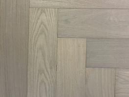 Lightly Fumed & Smoked Micro-Bevelled Oak Parquet Flooring Raw Timber Finish | E214 image