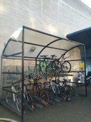 20 Space Oxford Two Tier Cycle Shelter image