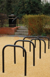 Sheffield Cycle Stand - Galvanised & Black image