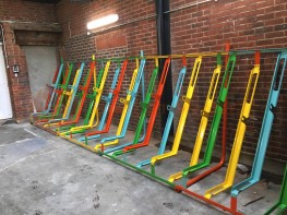 Semi Vertical Cycle Rack - The Bike Storage Company