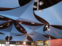 Easily our most successful product to date with thousands of units sold since 2006. Our commercial shade sails are beautiful and effective solutions to control heat and glare for internal glazed commercial roof spaces such as offices, restaurants, large conservatories, atriums and many more.