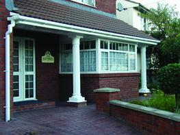 More beautiful than GRP. More easy to fit than plaster. Elegant, Doric styled columns.  All products available as full columns and half columns. Beautiful finish, just like plaster. Use externally or internally - totally water & humidity resistant. Lightweight...
