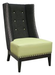 Normandy High Button-Back Wing Chair image