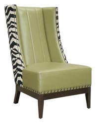 Normandy High Flute-Back Wing Chair image
