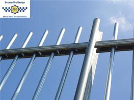 The revolutionary TangoRail TR100/TR200 Standard Railings (Self–raking) are a low cost optimum security solution, made from hollow vertical bars and horizontal rails. The system is a self-raking railing and therefore easily accommodates sloping or uneven gro...