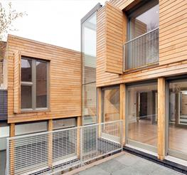 Jointed sweet chestnut cladding image