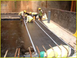 Self-adhesive polymer modified bitumen membrane laminated with HDPE.   Blacksheet is a self-adhesive polymer modified bitumen membrane laminated with high density polyethylene used for waterproofing below ground installations....