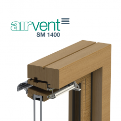 airvent SM 1400 Severe Weather Rated Surface Mounted Window Vent - Brookvent
