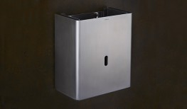 Grade 316 satin stainless steel. 12.5 litre bin capacity. Consistent radius aesthetic with shadow gap detail. Concealed fixing....
