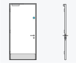 TYPE 13 - Education Doorset - Ahmarra Door Solutions Ltd