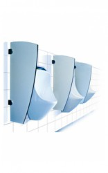 URIMAT offers elegantly shaped urinal privacy partitions made of Trespa®. These durable dividers have a smooth surface, good hygiene properties and are extremely robust. In addition, they are also very easy to keep clean....
