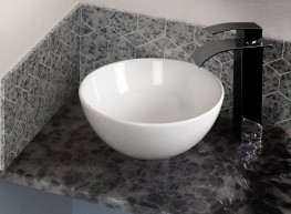 Recycled Glass Vanity Shelves - Diamik Glass