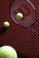 * Needlepunch tennis surface with clay infill * Plays like natural clay * Built in cushion layer reduces fatigue * Low maintenance * Available in terracotta  * Inlaid lines available in white * British manufactured  For more information visit www.playr...