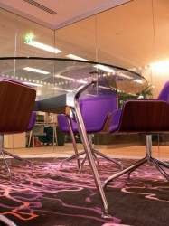 Omega meeting tables can be made in wide range of sizes and shapes. Our circular tables range from 1000-2400 diameter. Top finishes can be specified to suit. Integrated table top power and data modules are available as options and can be accessed via dual-side...