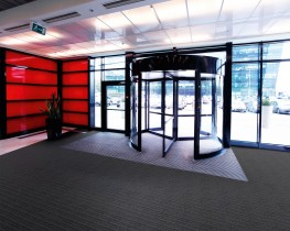 Vanquisher carpet provides an alternative rib and velour surface pattern specifically designed for use in entrance areas, preventing the soiling of internal floors.  Features & Benefits  •Protects internal carpets from outside soiling and wetting •Ava...