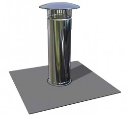 RyMar vent pipe covers are used for flashing soil vent pipes which penetrate the roof construction and membrane. 