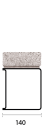 140mm Classic box lintel for use in solid or block walls. Offers a cost effective solution for heavy duty loads...