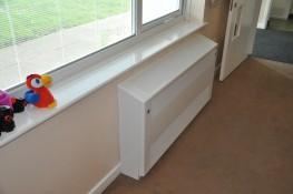 Anti-Ligature Radiator Cover - Floor Mounted Gradient Top - Contour Heating Products Ltd