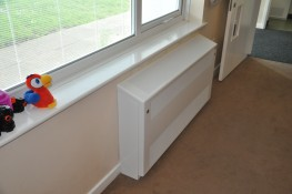 DeepClean Anti-ligature LST Radiator - Floor Mounted Gradient Top - Contour Heating Products Ltd