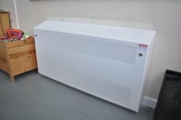DeepClean Anti-ligature Radiator - Floor Mounted Square Top - Contour Heating Products Ltd