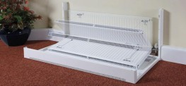 DeepClean LST Radiator - Floor Mounted Square Top - Contour Heating Products Ltd
