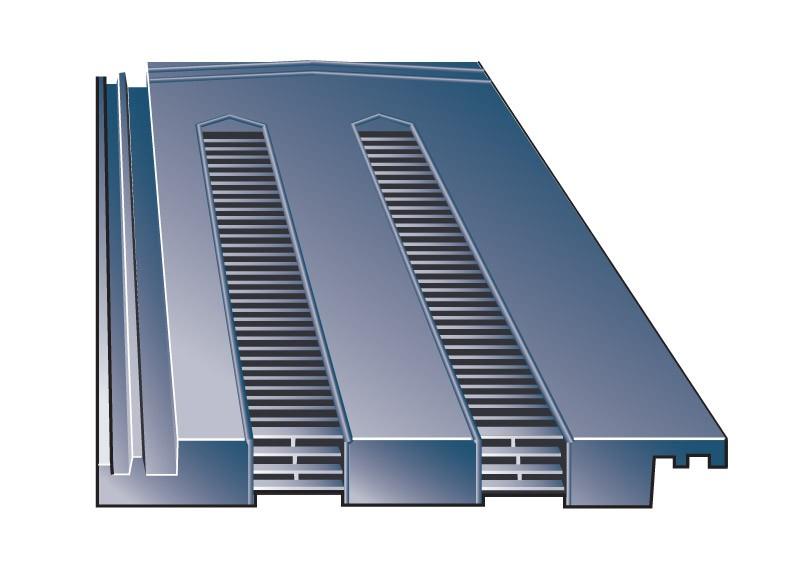 Slate Grey Hambleside Danelaw HD TV15//4 Tile Roof Vent