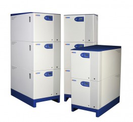 Vertical floor standing condensing modular boilers, natural gas, outputs 80kW to 1050kW...