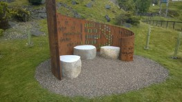 Natural Glacial Boulder Bench outdoor seating - Galloway Stone Products