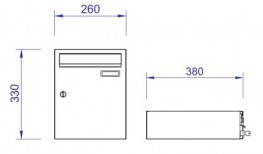 The model H260-3 extra large capacity letter box is the narrowest unit in our range of high volume mailboxes, and as such is best suited when there is a requirement for a large quantity in a relatively small area. It is available in a wide range of standard RA...