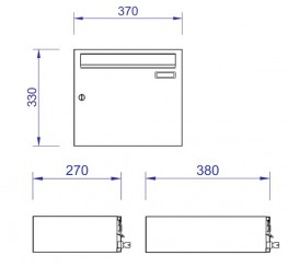 Rh290 1 anti theft post box by post boxes uk ltd for Letter size mail dimensional standards template