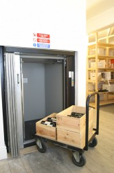 The Trolleylift range is our answer to inbetween loads of up to 300kg. With floor level loading they are ideal for moving goods on trolleys or in roll cages and saving your staff from manually handling awkward loads. Typically used in catering situations, pubs...