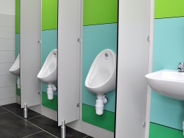 Urinal Panel System - Cubicle Centre