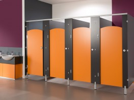 With all the playful options of the standard Brecon Junior cubicle system, Brecon CGL is a tougher version suited to children's washrooms requiring a little extra muscle.