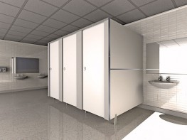 Our Budget Range of Toilet Cubicles.  The Fast-Fit cubicle range provides an economical solution to your requirements. The Fast-Fit cubicles are functional, durable and attractive; manufactured in the UK from 19mm Melamine Faced Chipboard to a high standard ...
