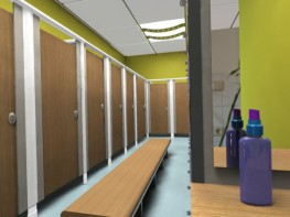 The Nubis Range is a framed cubicle system designed to meet the most demanding of applications. Typically used throughout swimming pools and leisure facilities, its sturdy construction utilizes braced aluminium pilasters and head rails to provide a robust solu...