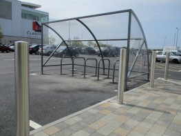 Curved Back Bicycle Shelter image